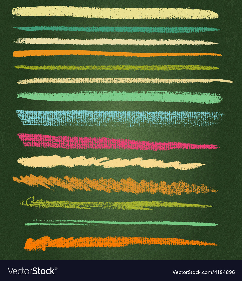 0000000 chalk brushes vector