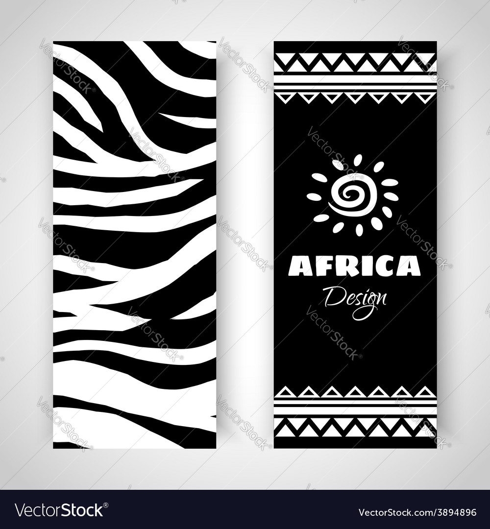 African tribal art banners vector | Price: 1 Credit (USD $1)
