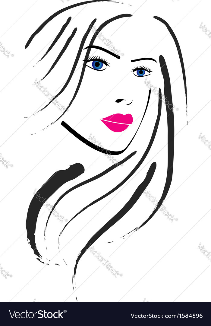 Beautiful lady vector | Price: 1 Credit (USD $1)