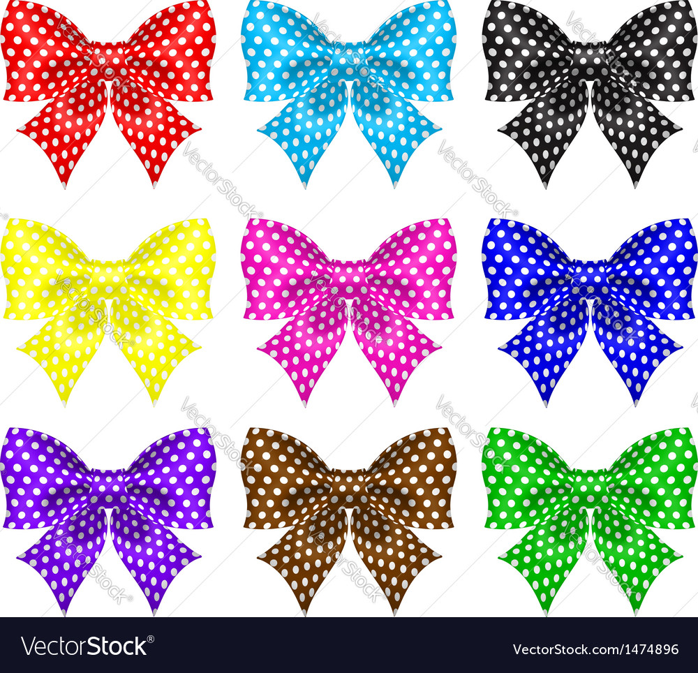 Bows with polka dot vector | Price: 1 Credit (USD $1)