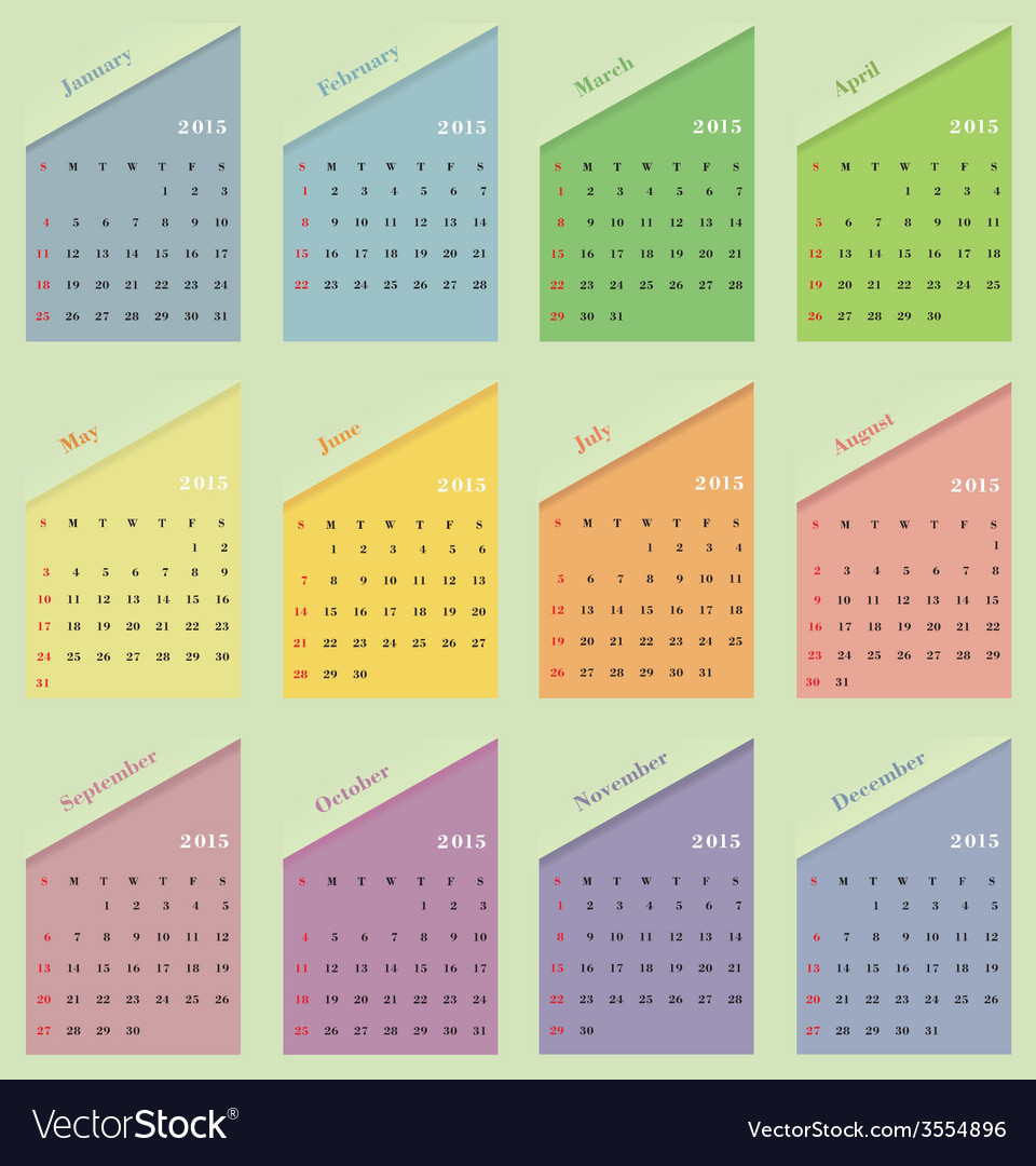 Classical calendar on a light background vector | Price: 1 Credit (USD $1)