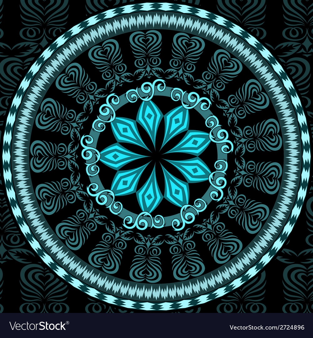 Decorative blue pattern card vector   Price: 1 Credit (USD $1)