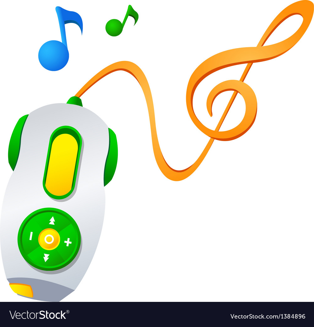 Icon music player vector | Price: 1 Credit (USD $1)