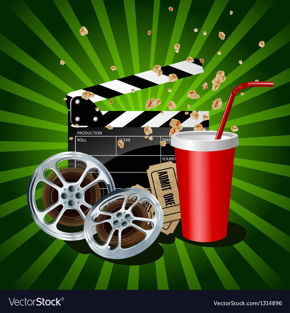 Movie theme objects vector | Price: 3 Credit (USD $3)