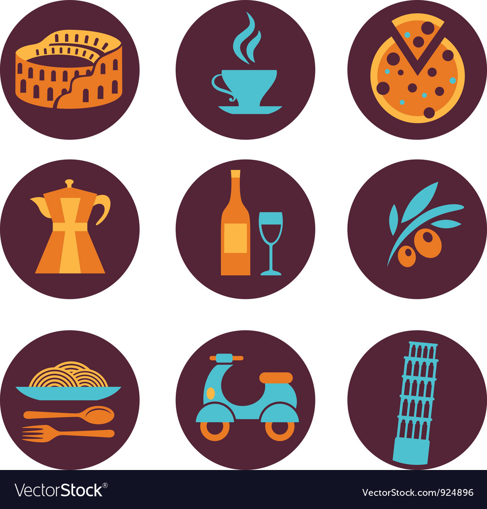 Set of italy icons vector | Price: 1 Credit (USD $1)