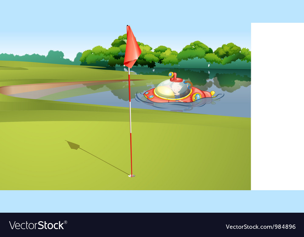 Sumbarine at golf course vector | Price: 1 Credit (USD $1)
