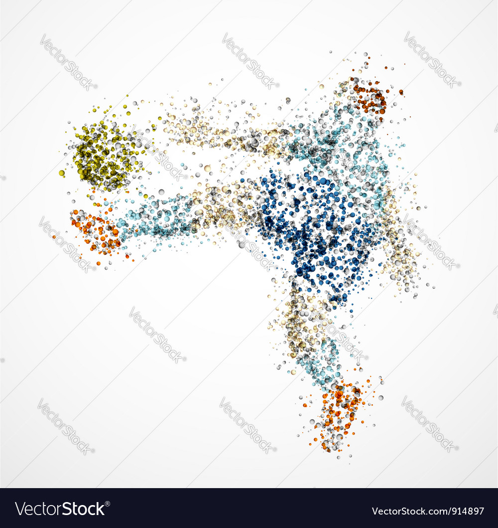 Abstract football player3 vector   Price: 1 Credit (USD $1)