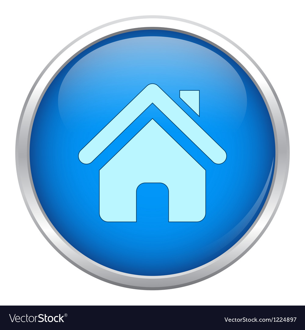 Blue home icon vector | Price: 1 Credit (USD $1)