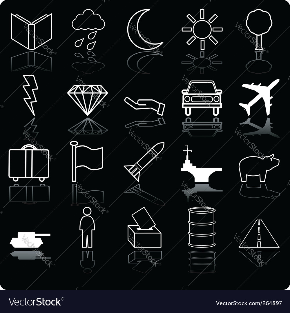 Demographic icon set vector | Price: 1 Credit (USD $1)