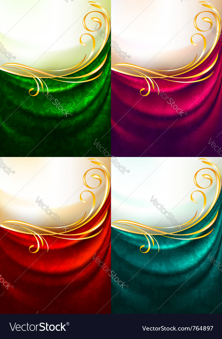 Fabric curtain ornament vector | Price: 1 Credit (USD $1)
