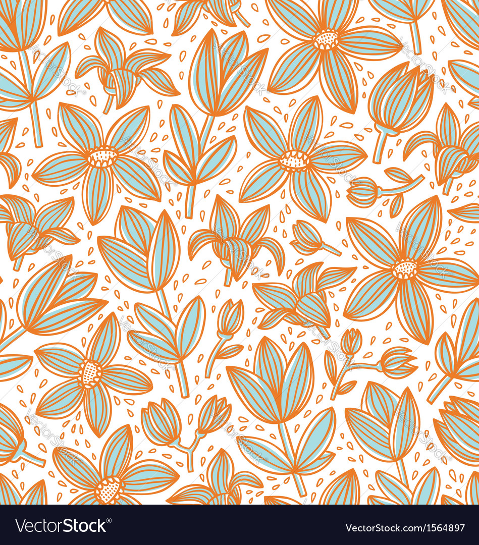 Lined floral pattern vector | Price: 1 Credit (USD $1)