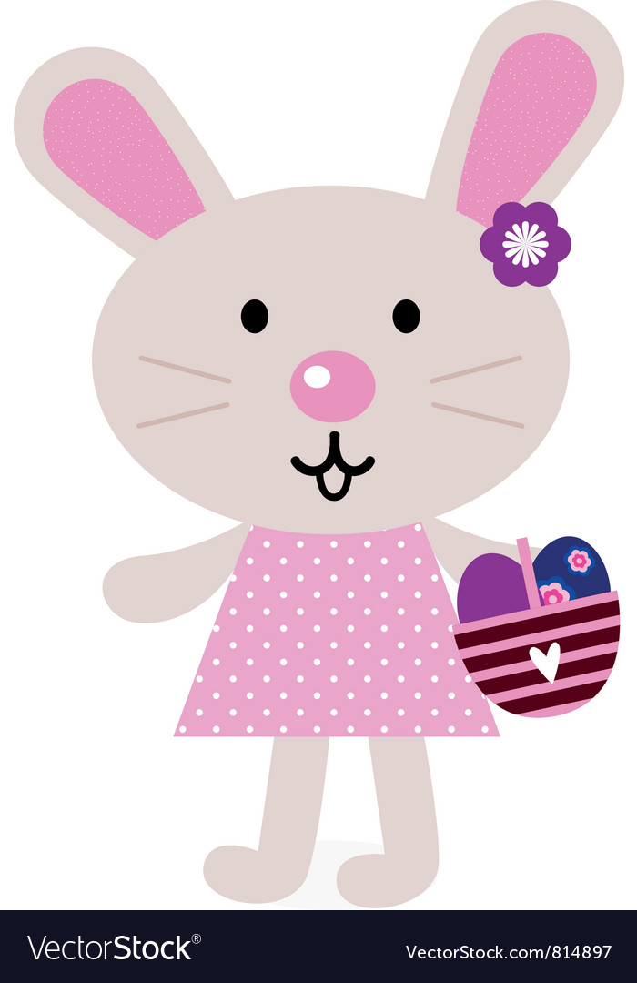 Pink easter bunny vector | Price: 1 Credit (USD $1)