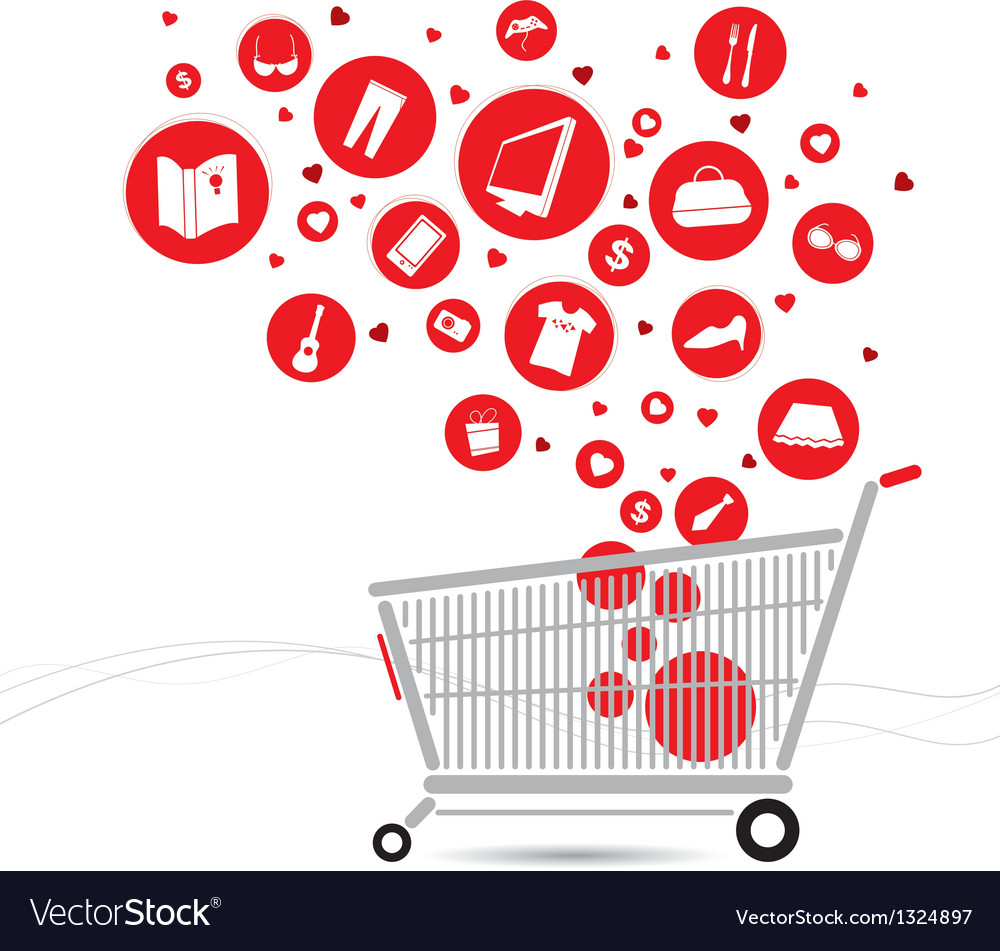 Shopping cart design vector | Price: 1 Credit (USD $1)