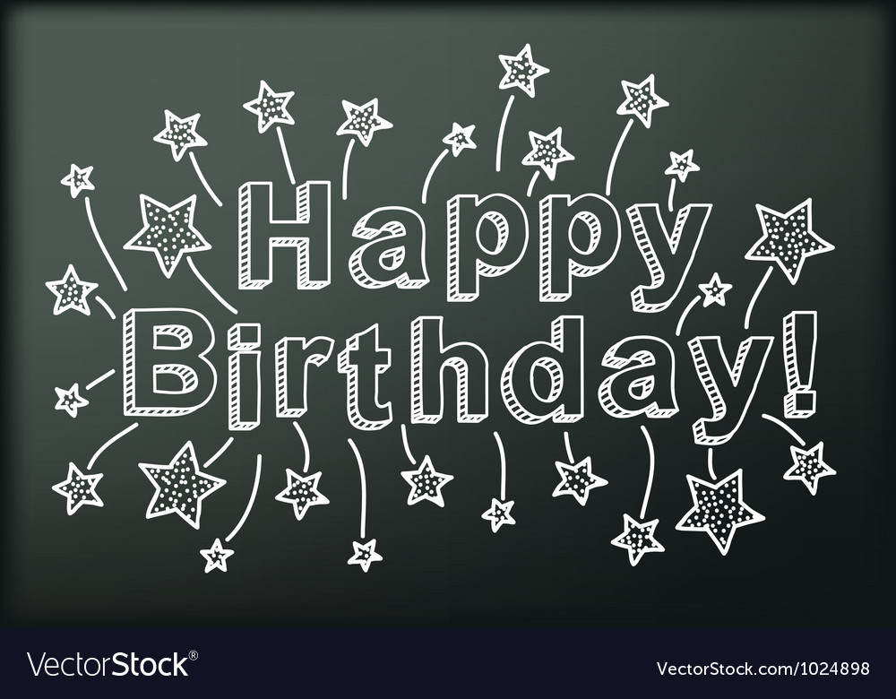 Blackboard with happy birthday vector | Price: 1 Credit (USD $1)