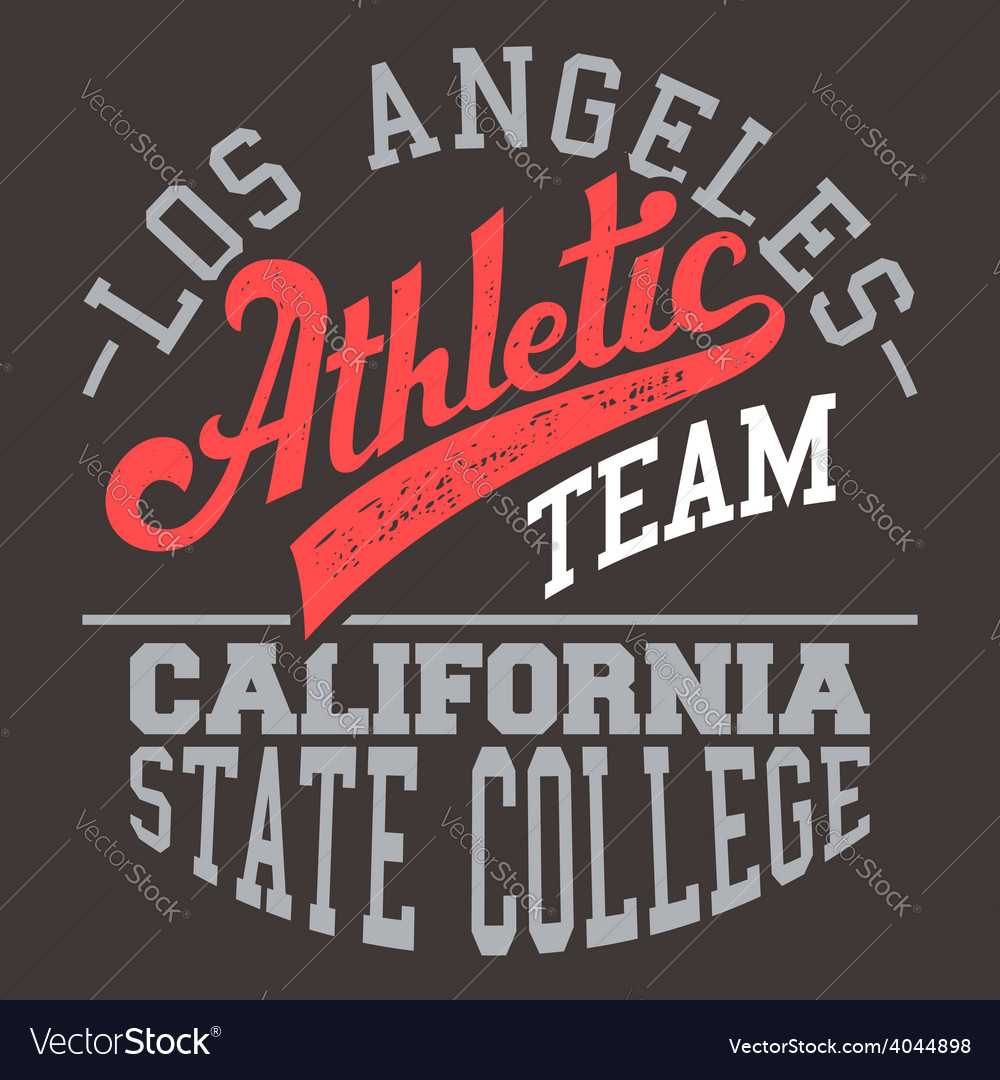 California athletic team vector | Price: 1 Credit (USD $1)