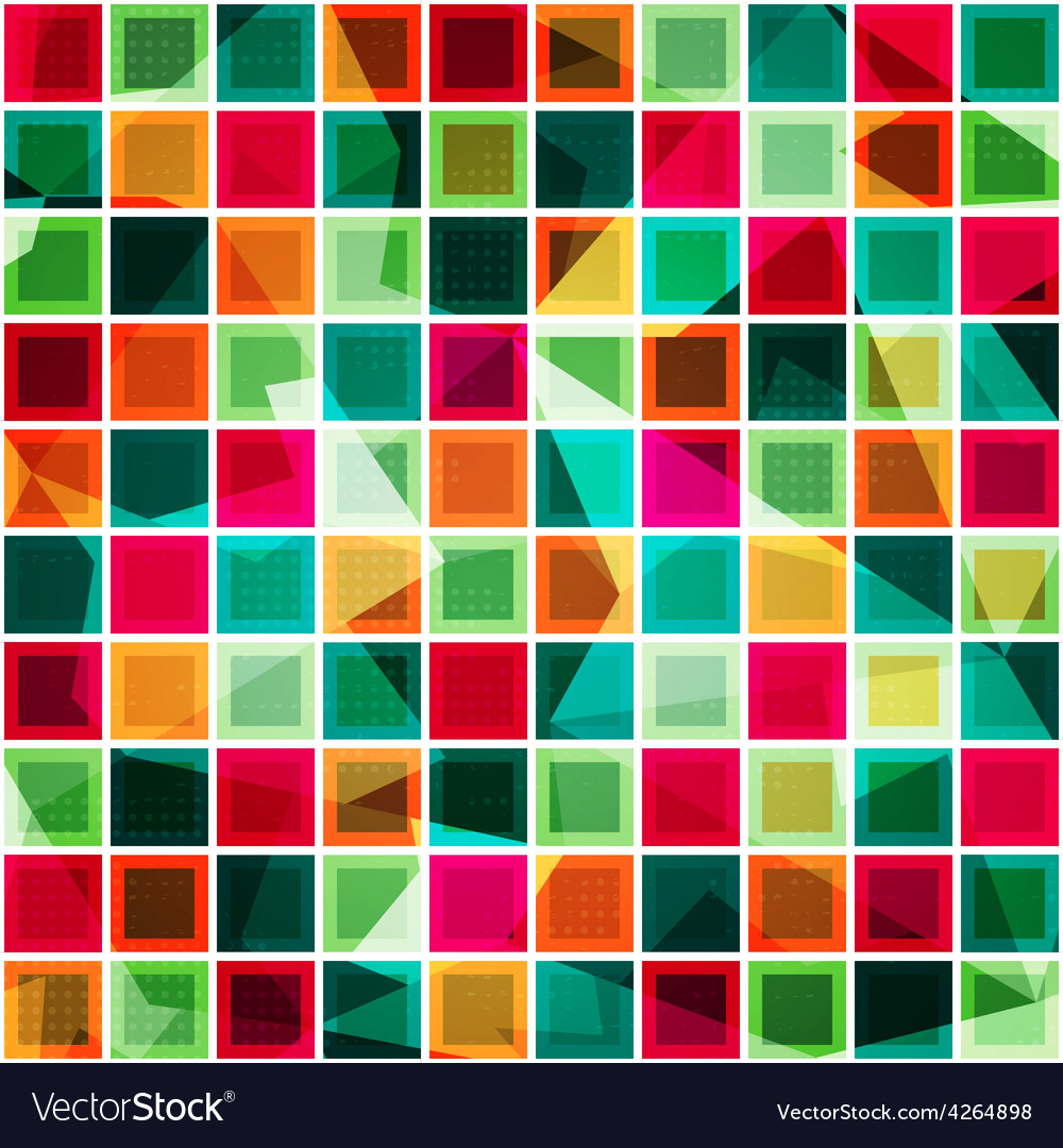 Colored squares seamless pattern vector | Price: 1 Credit (USD $1)