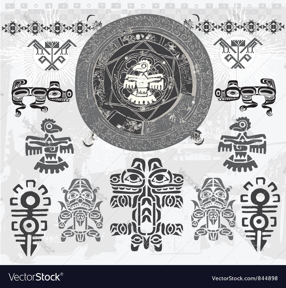 Ethnic astec indian vector | Price: 1 Credit (USD $1)