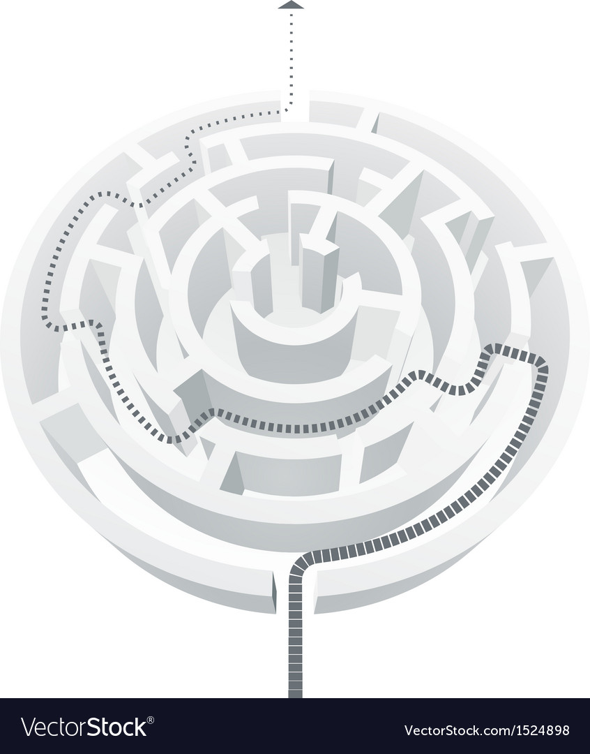 Simple white maze vector | Price: 1 Credit (USD $1)
