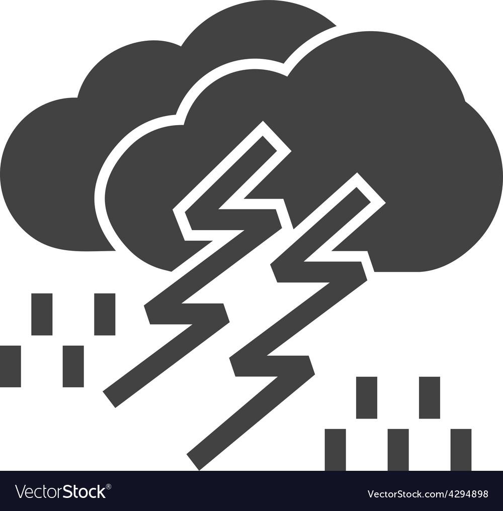 Thunderstorm vector | Price: 1 Credit (USD $1)