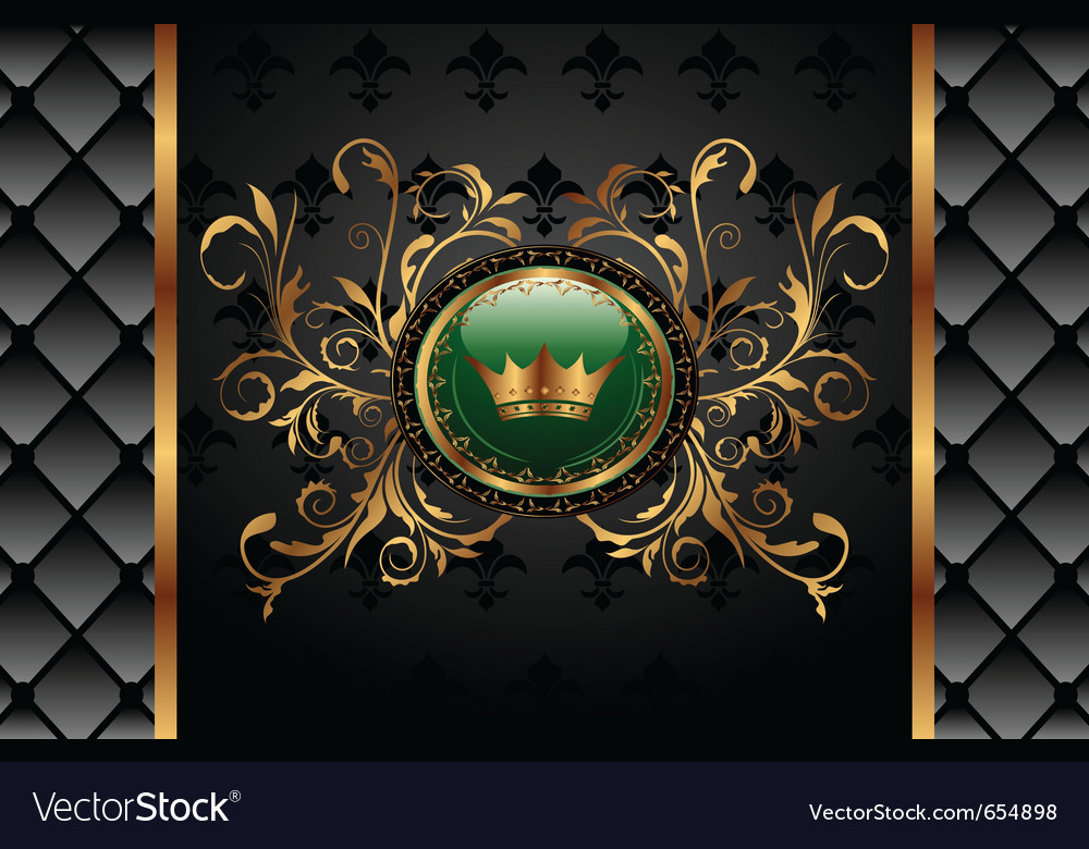 Vintage background with crown - vector | Price: 1 Credit (USD $1)