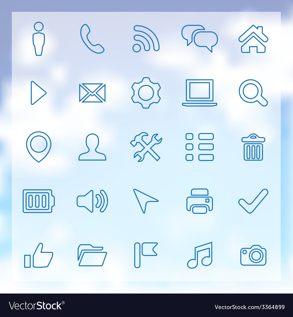 25 ui outline icons for web and mobile vector | Price: 1 Credit (USD $1)
