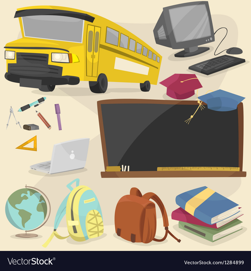 Back to school item pack 1 vector | Price: 3 Credit (USD $3)