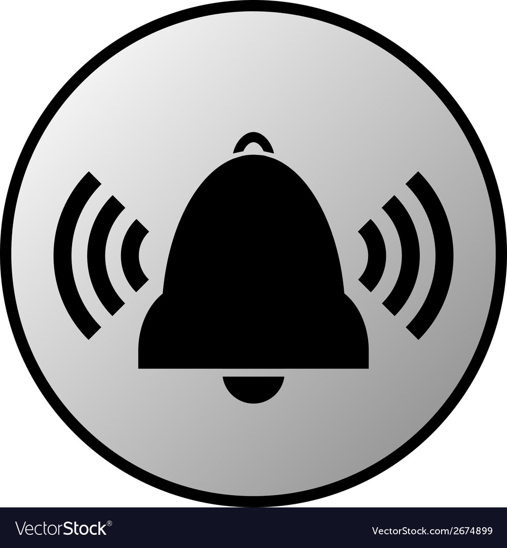 Bell button vector | Price: 1 Credit (USD $1)