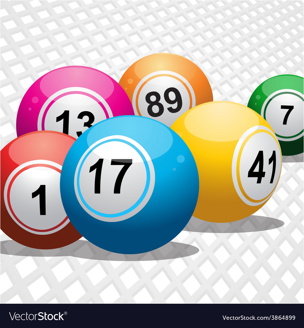 Bingo balls on white 3d background vector | Price: 1 Credit (USD $1)