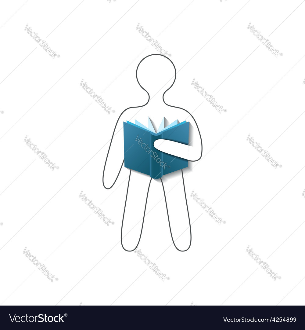Book reader conceptual sign vector | Price: 1 Credit (USD $1)