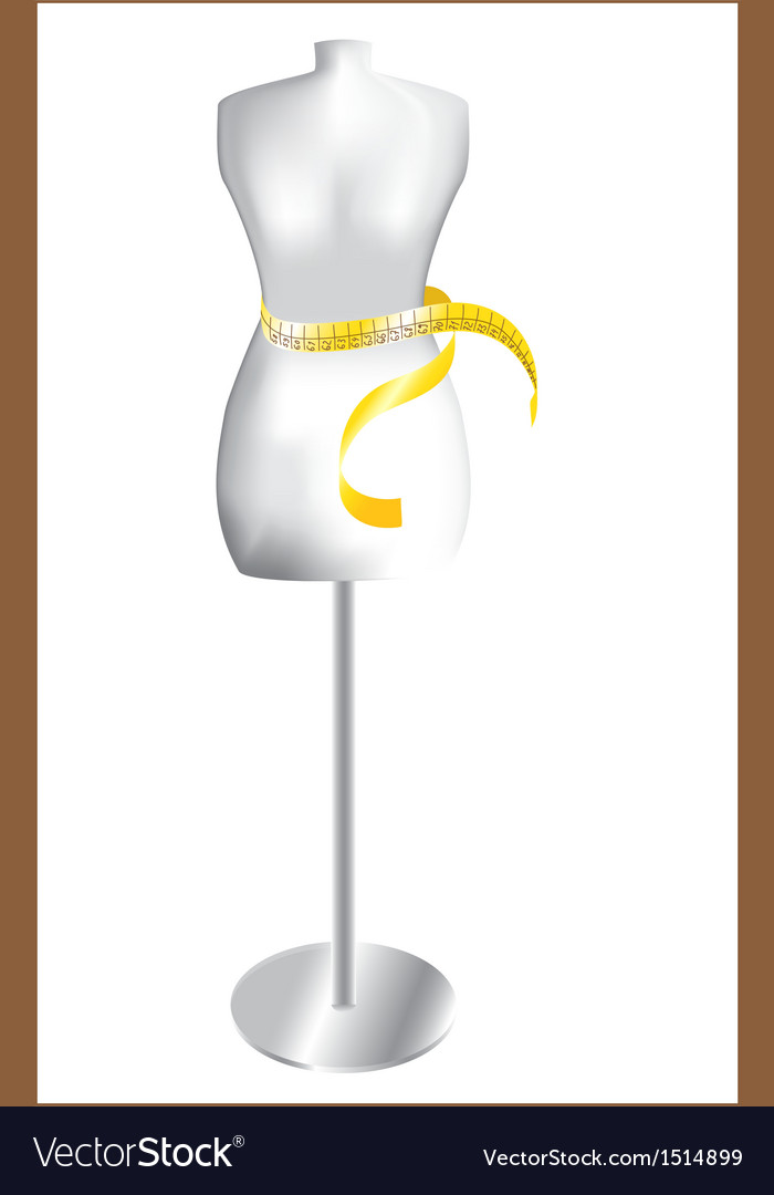 Dummy with measuring tape vector | Price: 1 Credit (USD $1)
