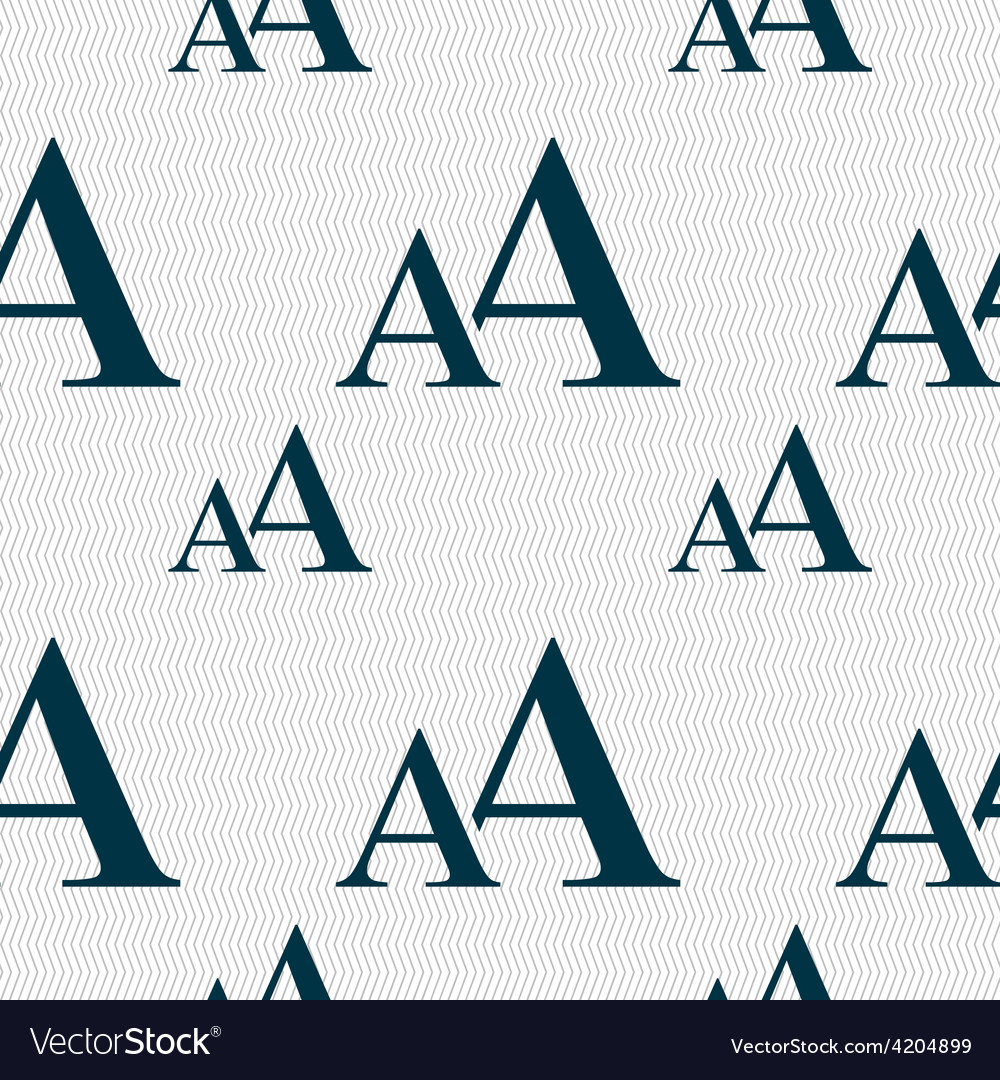Enlarge font aa icon sign seamless pattern with vector | Price: 1 Credit (USD $1)