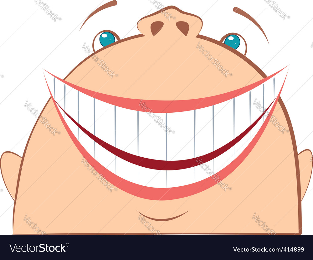 Face laughing vector | Price: 1 Credit (USD $1)