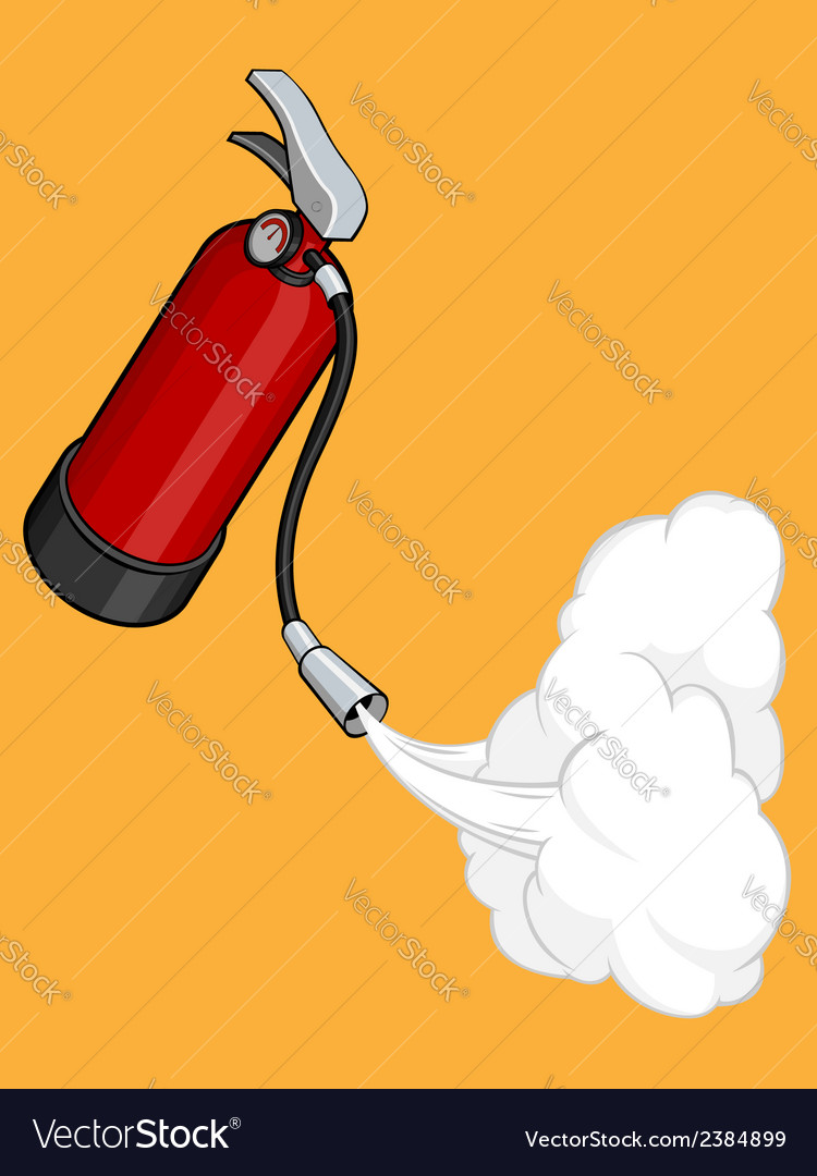 Fire extinguisher releasing its gas vector | Price: 1 Credit (USD $1)