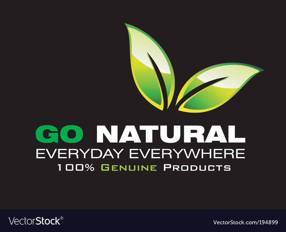 Go natural vector | Price: 3 Credit (USD $3)