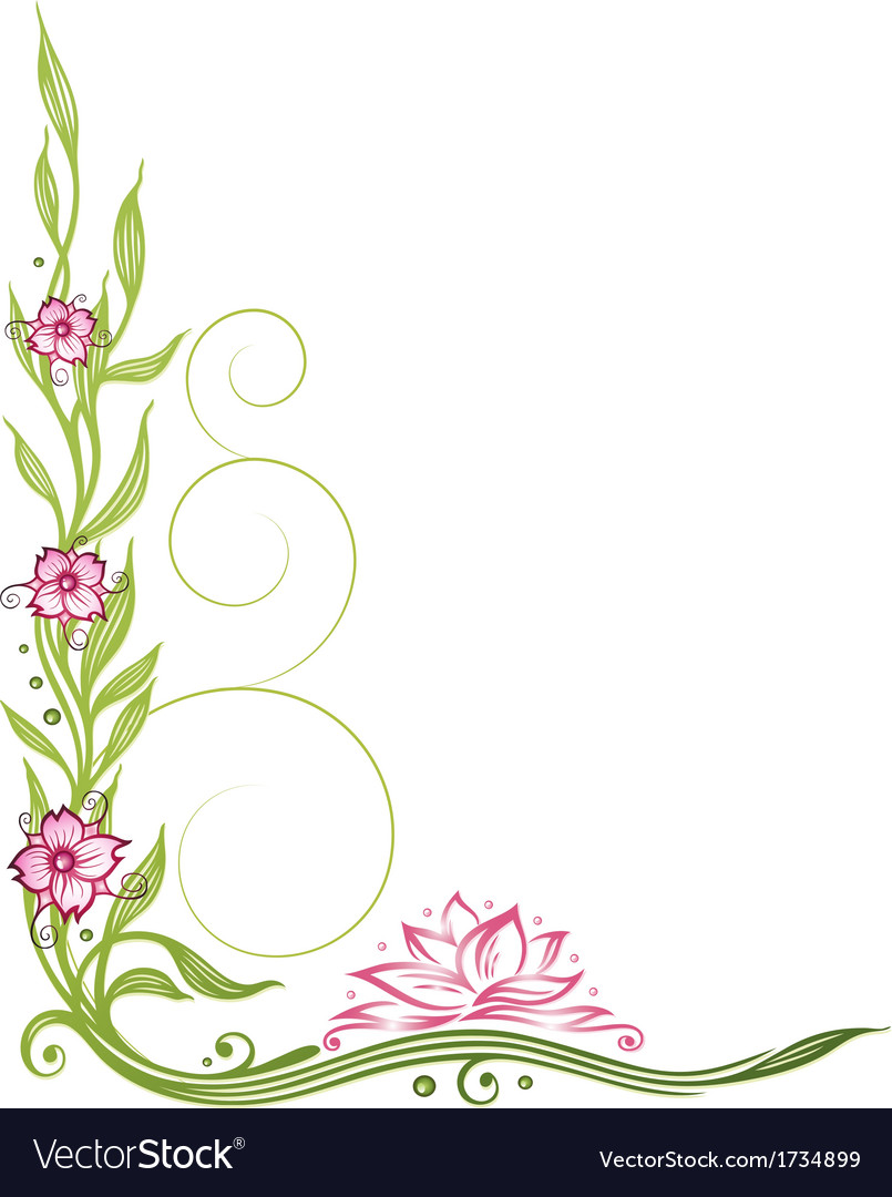 Lotus flower border vector | Price: 1 Credit (USD $1)
