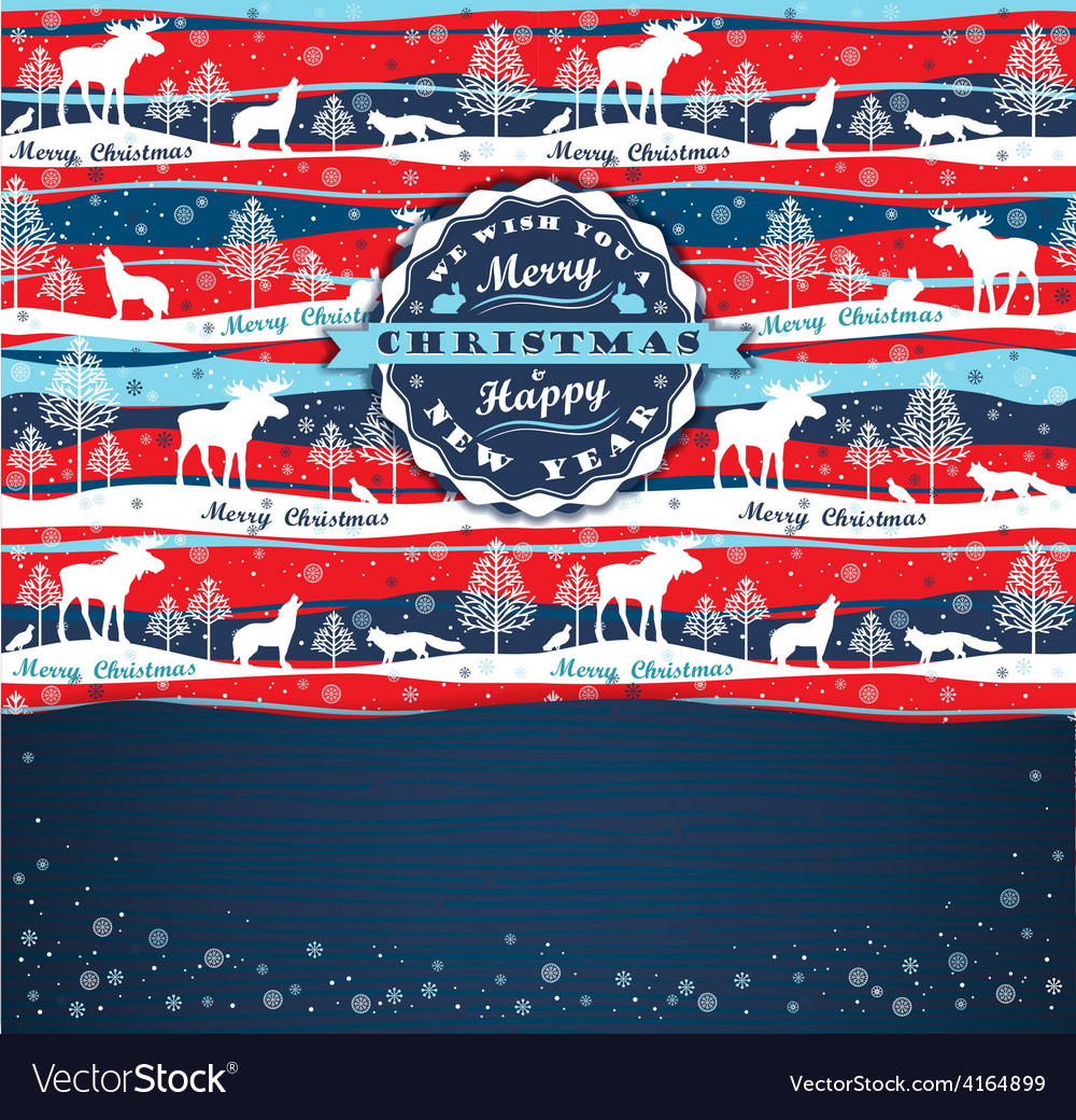 Merry chrismas background with typography vector | Price: 1 Credit (USD $1)