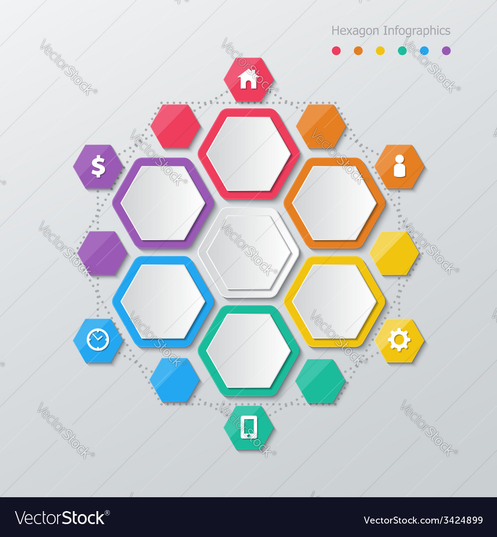 Paper polygon infographics vector | Price: 1 Credit (USD $1)