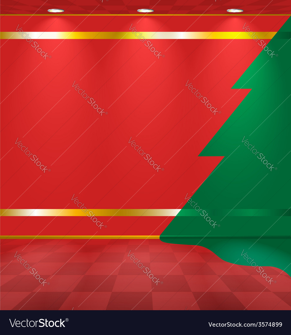 Room with fir on the wall vector | Price: 1 Credit (USD $1)