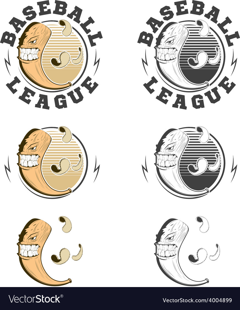 Set of baseball labels and badges vector | Price: 1 Credit (USD $1)