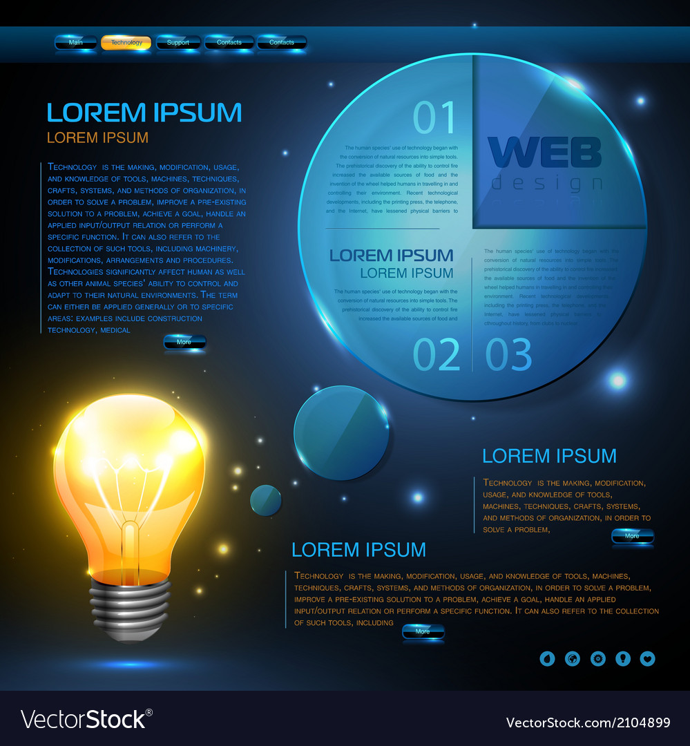 Website template design technology background vector | Price: 1 Credit (USD $1)