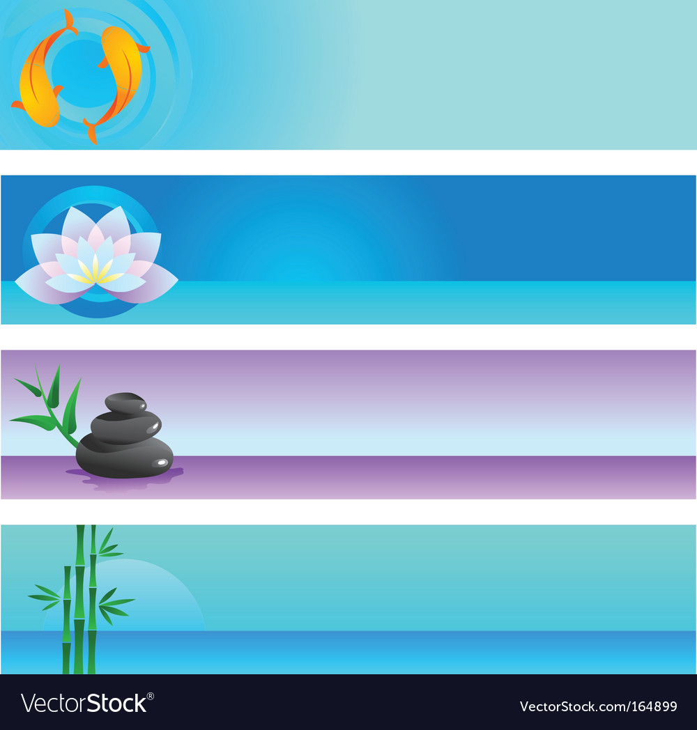 Zen banners vector | Price: 1 Credit (USD $1)