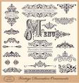 Elegant victorian letterhead flourishes vector