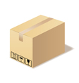 Closed cardboard box isolated in format vector