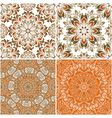 Set of round seamless patterns vector