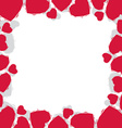 Hearts border made in contemporary geometric style vector