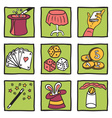 Magic tricks collection vector