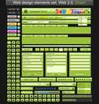 Web design elements green vector