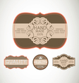 Vintage label style with four design element vector
