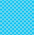 Blue background fabric with white cross circles vector