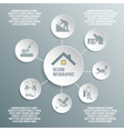 Roofer paper infographic vector